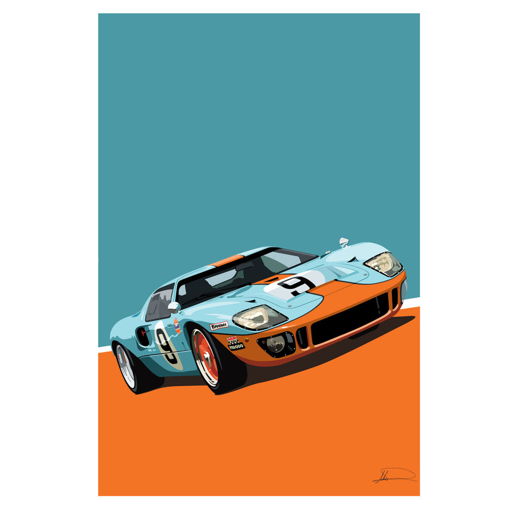Gulf GT40 Limited Edition Artwork