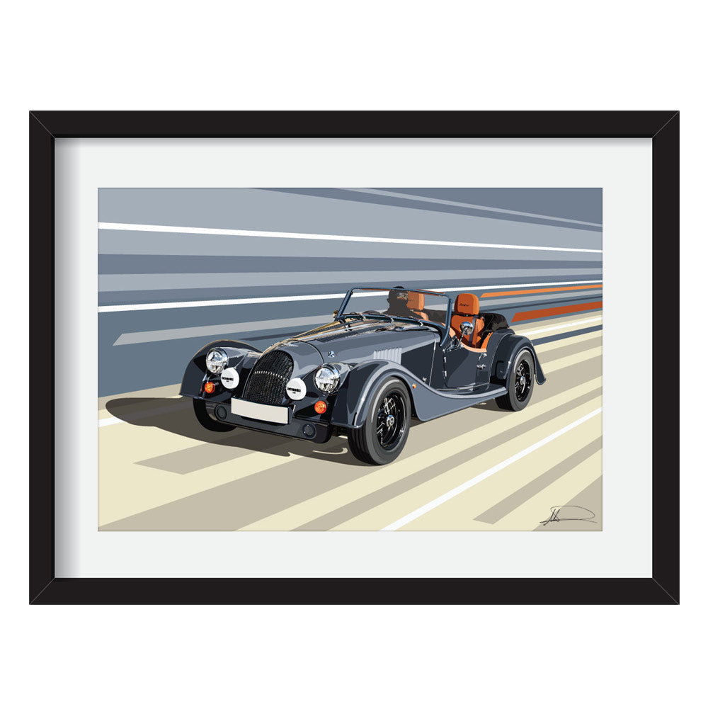 Morgan plus4 customised artwork Giclée printed