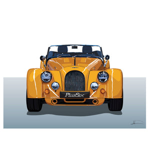 Morgan Plus 6 customised artwork Giclée printed