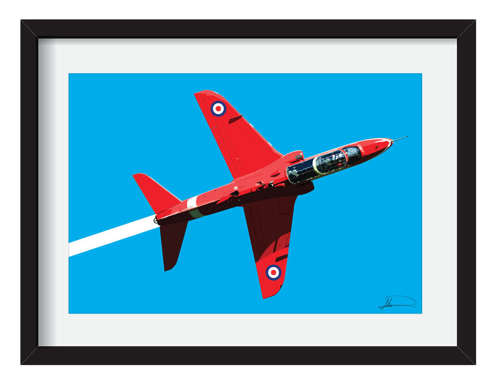 Red arrows - Fine art print
