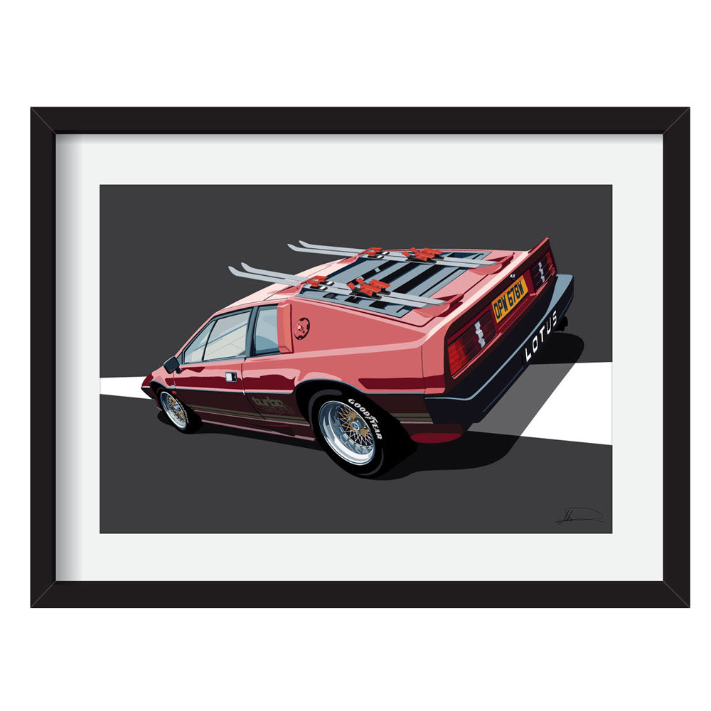 Lotus Esprit S3 007 - For your eyes only Limited Edition Artwork