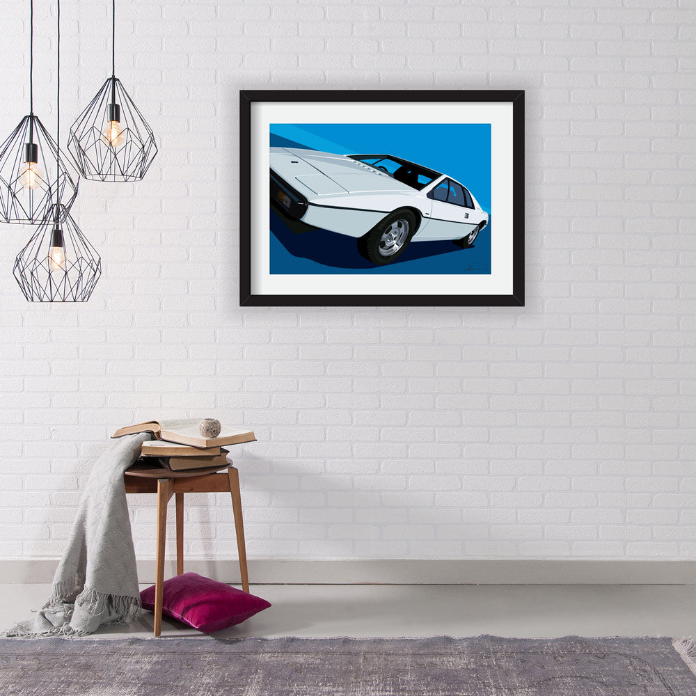 Lotus Esprit S1 007 Limited Edition Artwork - The spy who loved me