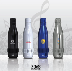 ZOES THERMAL BOTTLE WITH INTEGRATED BLUETOOTH SPEAKER BASE