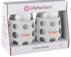 17 OZ. LIFEFACTORY WINE GLASS WITH SILICONE SLEEVE 2 PACK