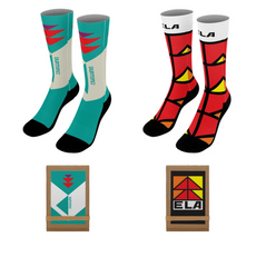 """18"""" DYE-SUBLIMATED SOCKS (PAIR) WITH TRIFOLD PACKAGING"""