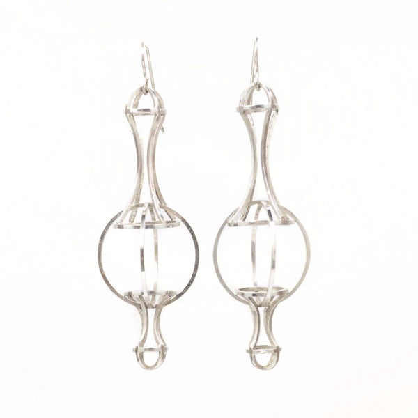Architectonic Earrings in Sterling Silver