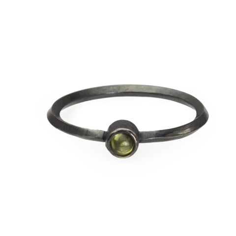 Metropolis Peridot Stacking Ring in Sterling Silver
