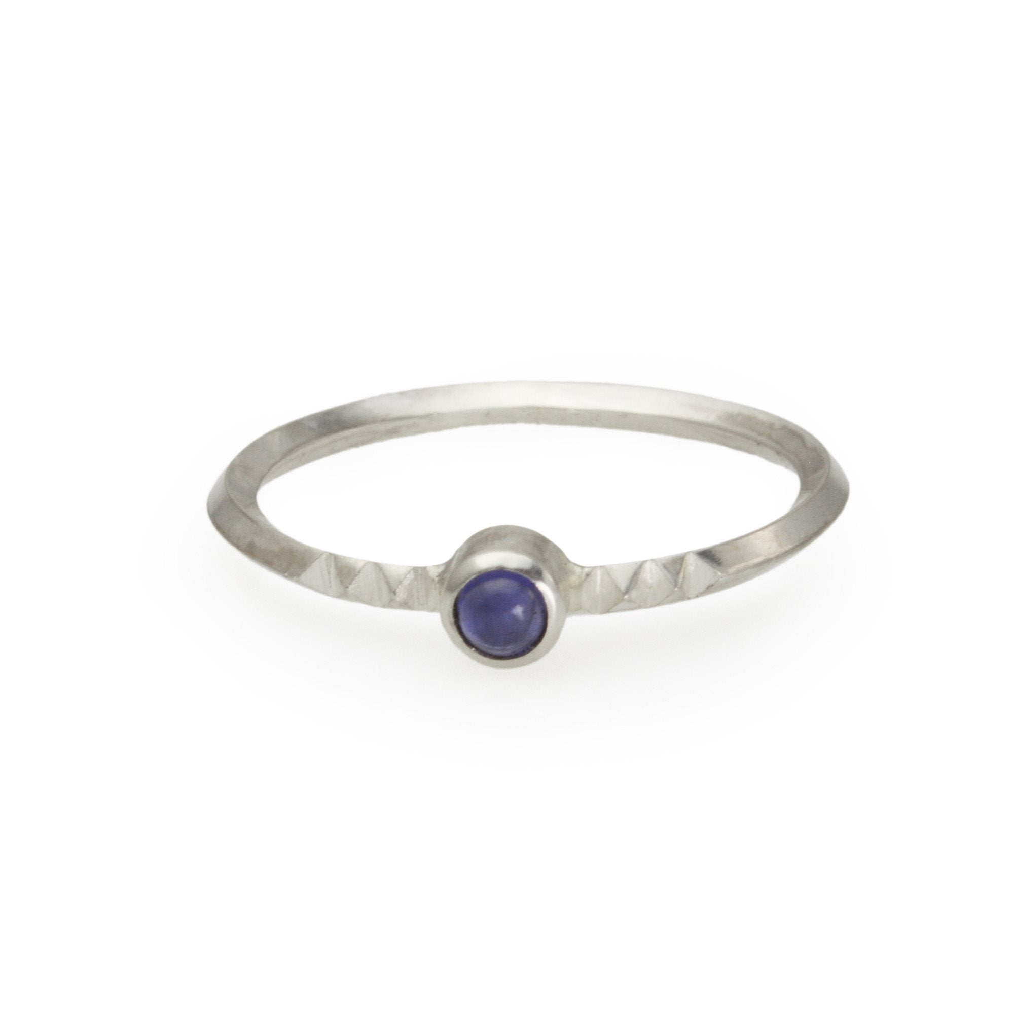 Metropolis Collection Stacking Ring in Sterling Silver and Amethyst