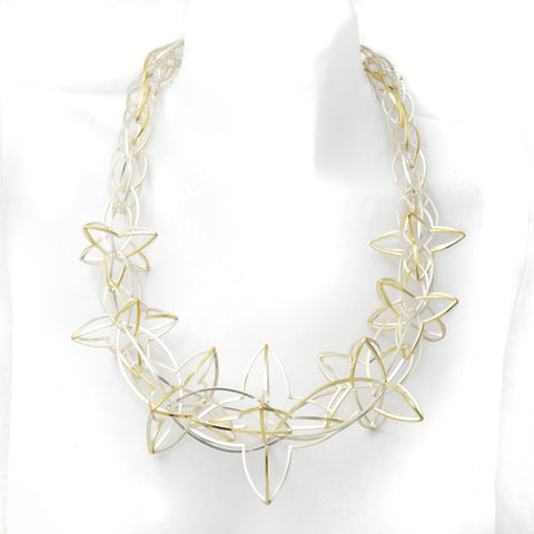 Lattis Burst Necklace a Necklace to Transform you and Invigorate you Shines in 22k Gold and Sterling Silver