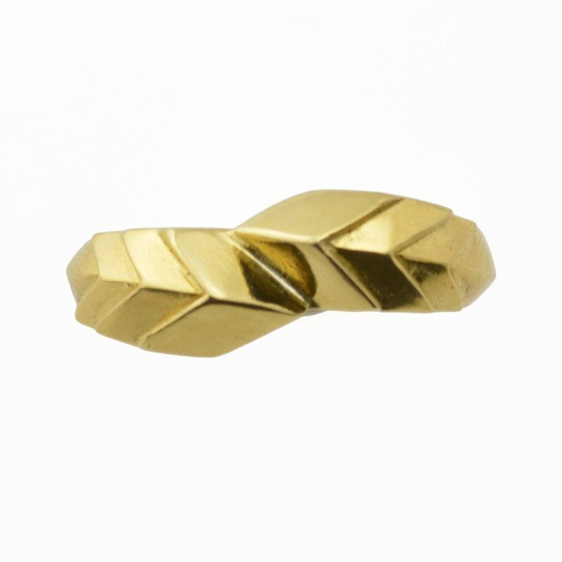 Slip Fault Ring in 18k gold