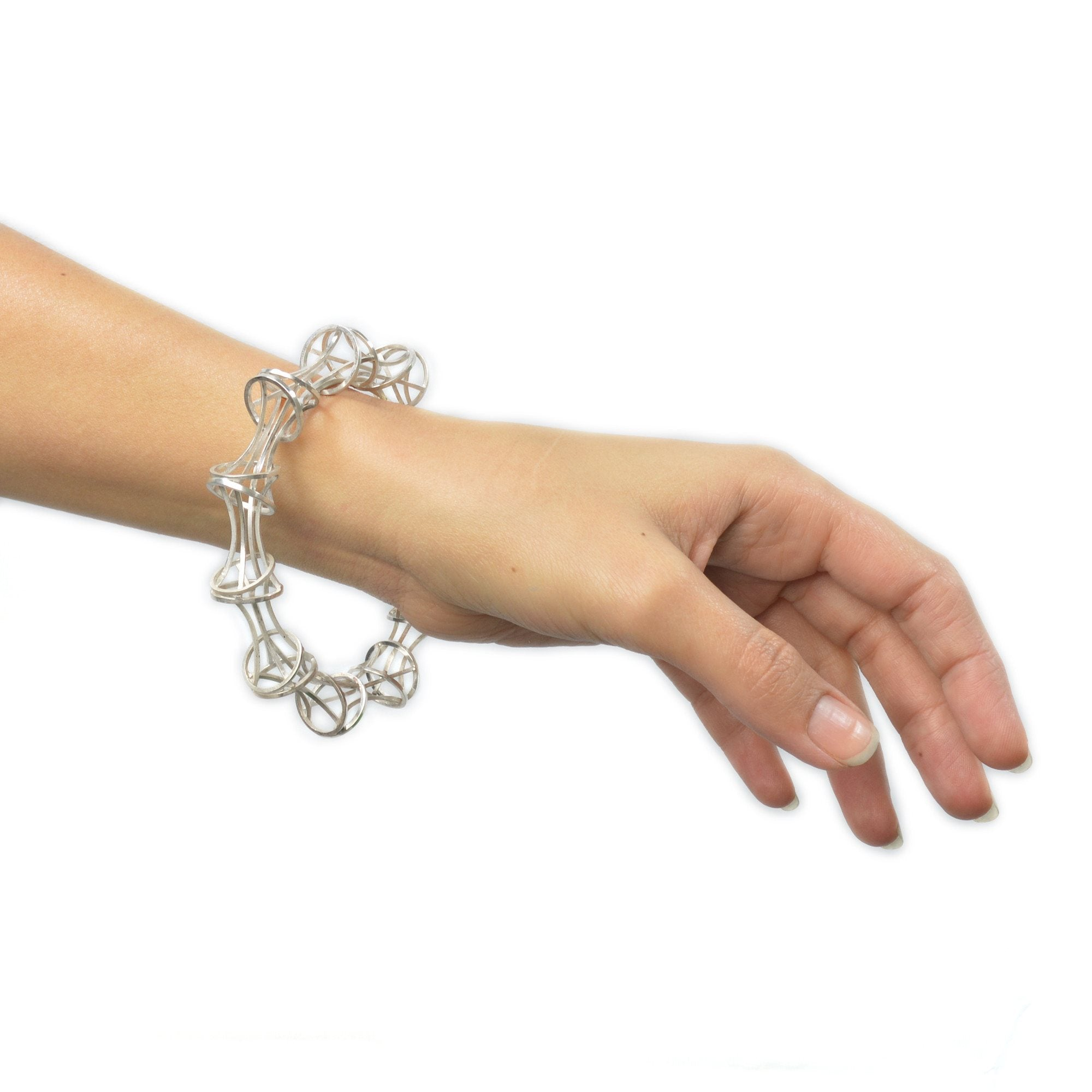 Vertebrae Bangle Bracelet in Sterling Silver