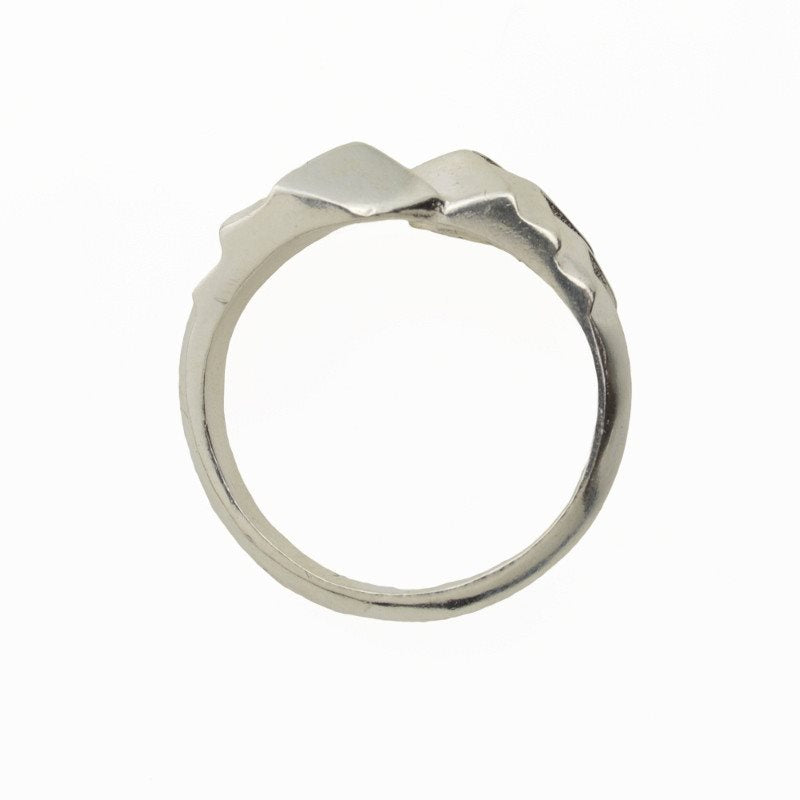 Slip Fault Ring in Sterling Silver