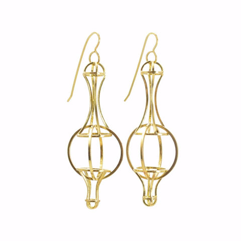 Architectonic Earrings in 18k Gold