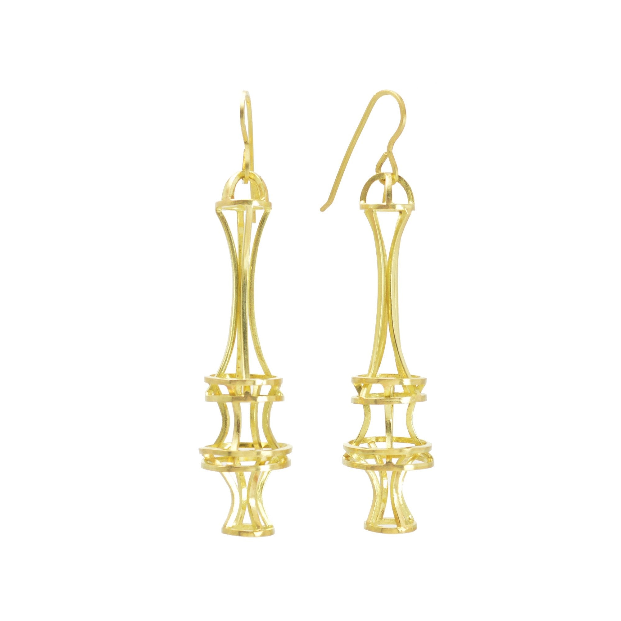 Vertebrae Earrings in 18k Gold