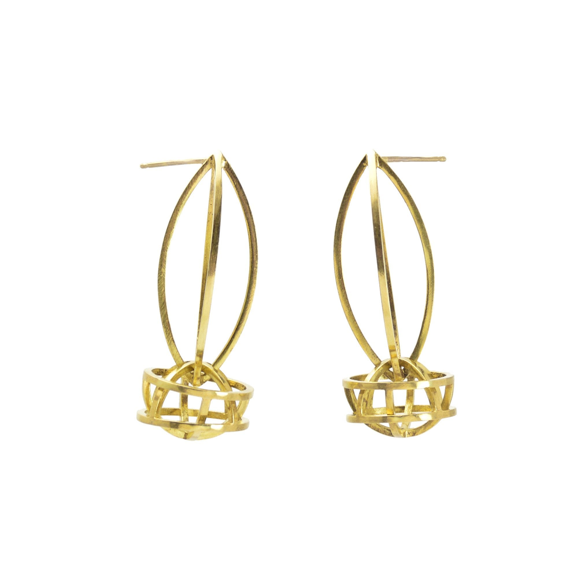Lattis Link Earrings in 18k Royal Gold