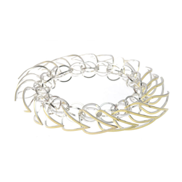 Tighra Bracelet 22k Gold and Sterling Silver