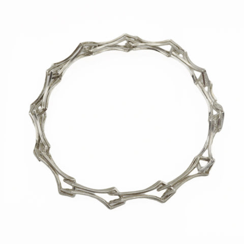 Metropolis Double Diamond Link Bracelet in Sterling Silver