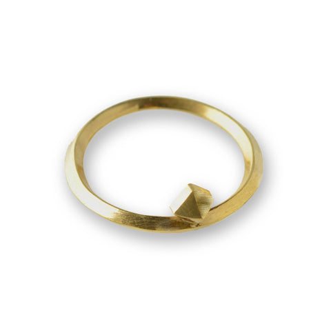 Metropolis Single Pyramid Stacking Ring in 14k Gold