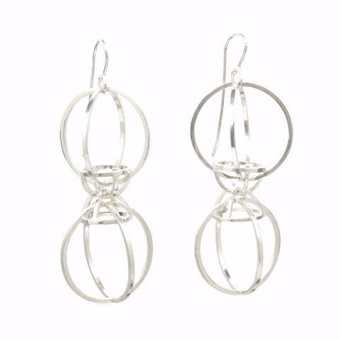 Architectonic Earrings in Sterling Silver Modern Geometry