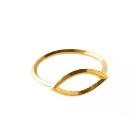 Metropolis Navette Stacking Ring in 14k