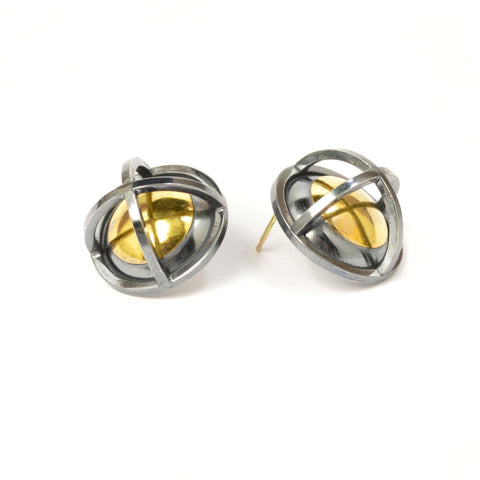 Caged Sphere Earrings