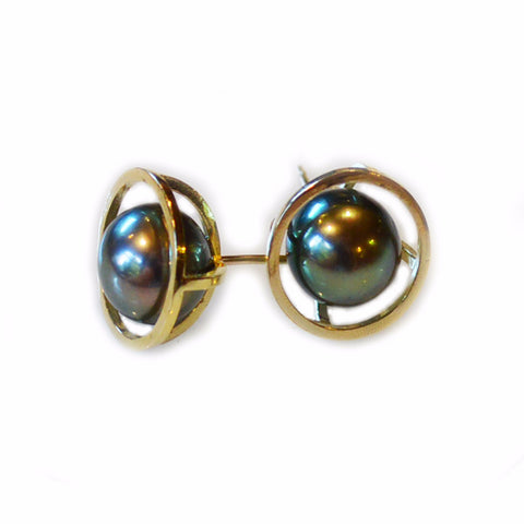 South Sea Pearl Reflection Stud Earrings