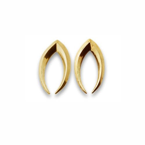 Foliate Wish Earrings in 14k gold