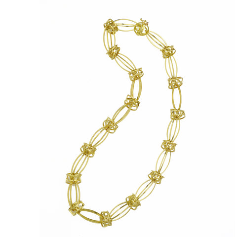 Lattis Statement Necklace in 18k Gold