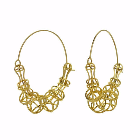 Vertebrae Hoop or Dangle Earrings