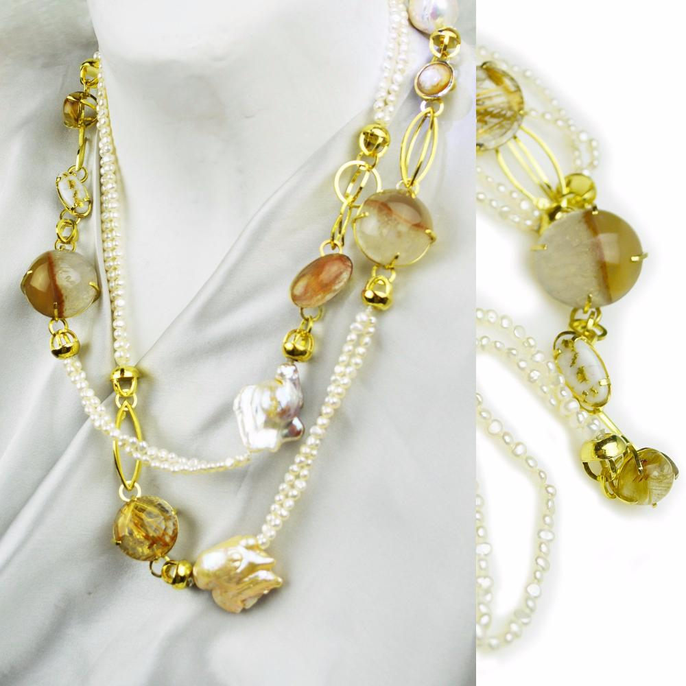 Golden Sunrise Necklace and Bracelet