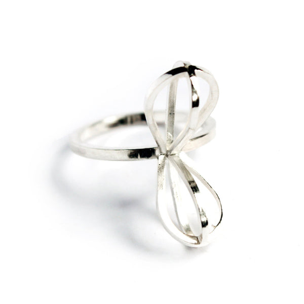 Metropolis Petal Stacking Ring in Sterling Silver