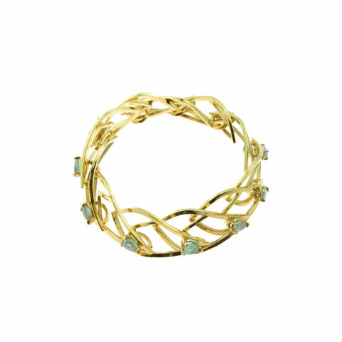 Cascade Link Bracelet in 18k Gold with Montana Sapphires