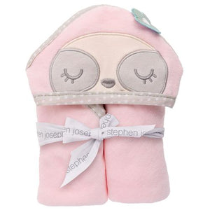 Sloth Hooded Towel and Mitt Set