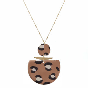 Brown Leopard Print Necklace