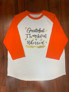Grateful, Thankful, Blessed Tee
