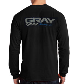 GRAY MOTORSPORTS LONG SLEEVE CREW WORKSHIRT