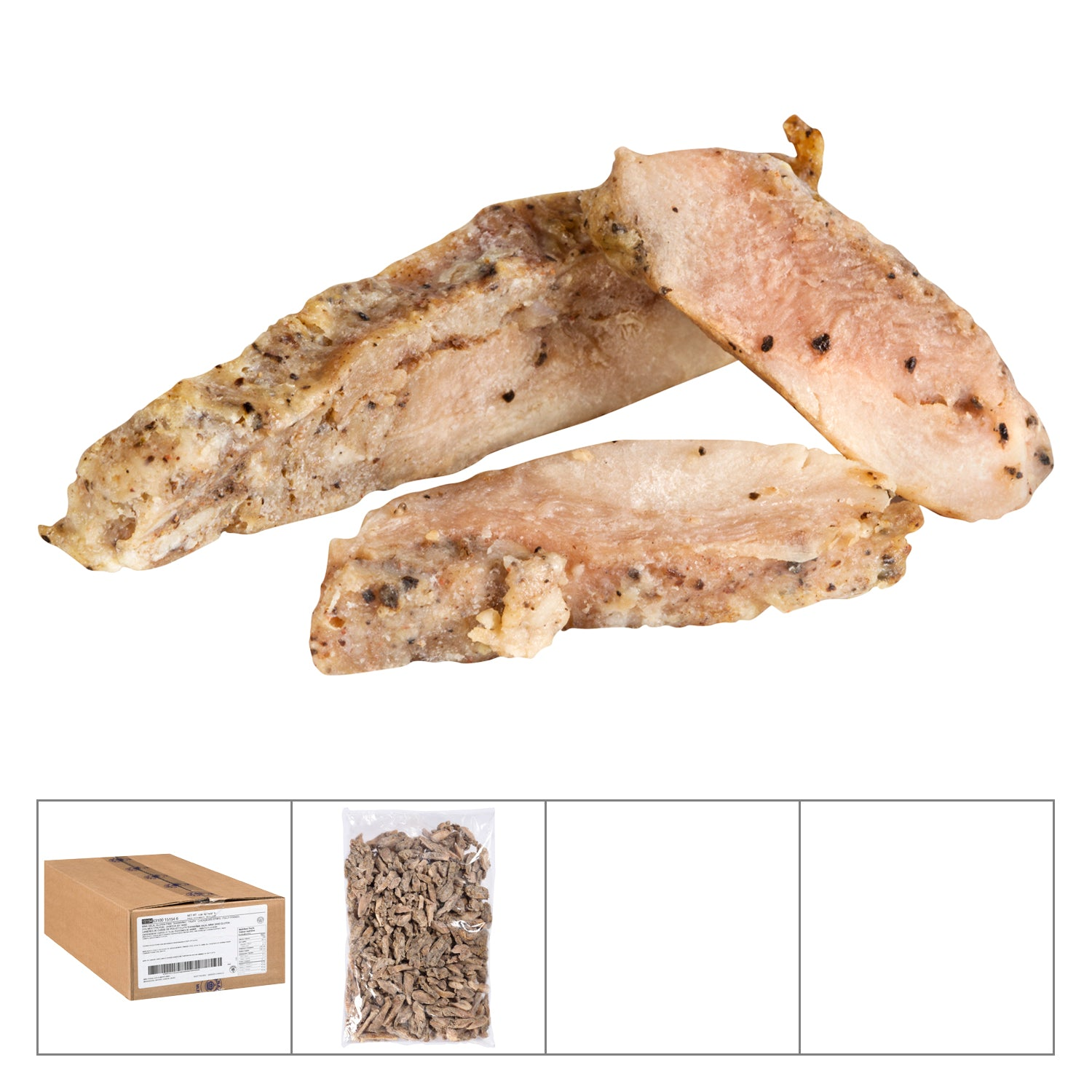 Mina Frozen Fully Cooked Chicken Shawarma Meat 2 kg - 2 Pack [$21.50/kg]