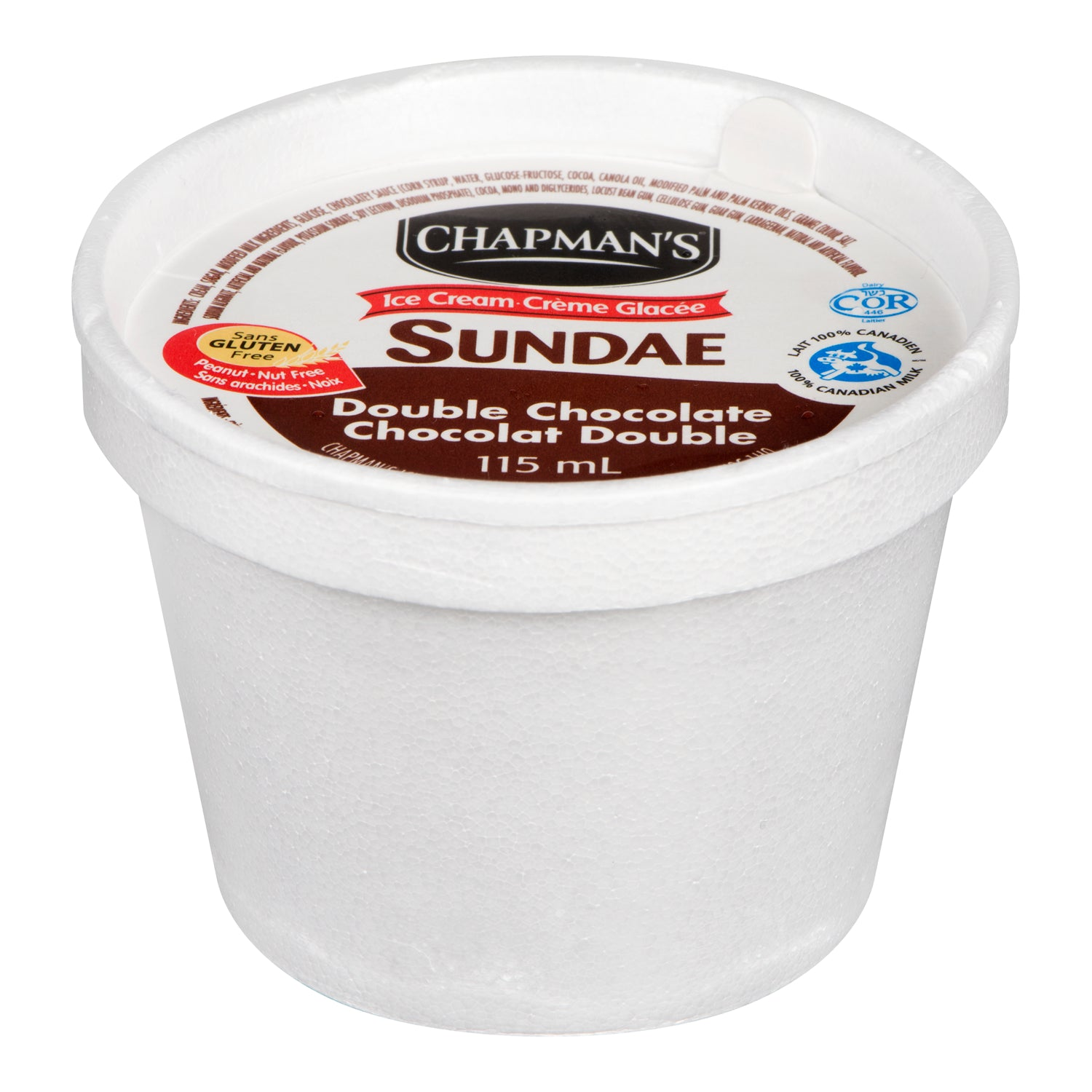 Chapman's Chocolate Ice Cream Cups 115 ml - 24 Pack [$0.54/cup]