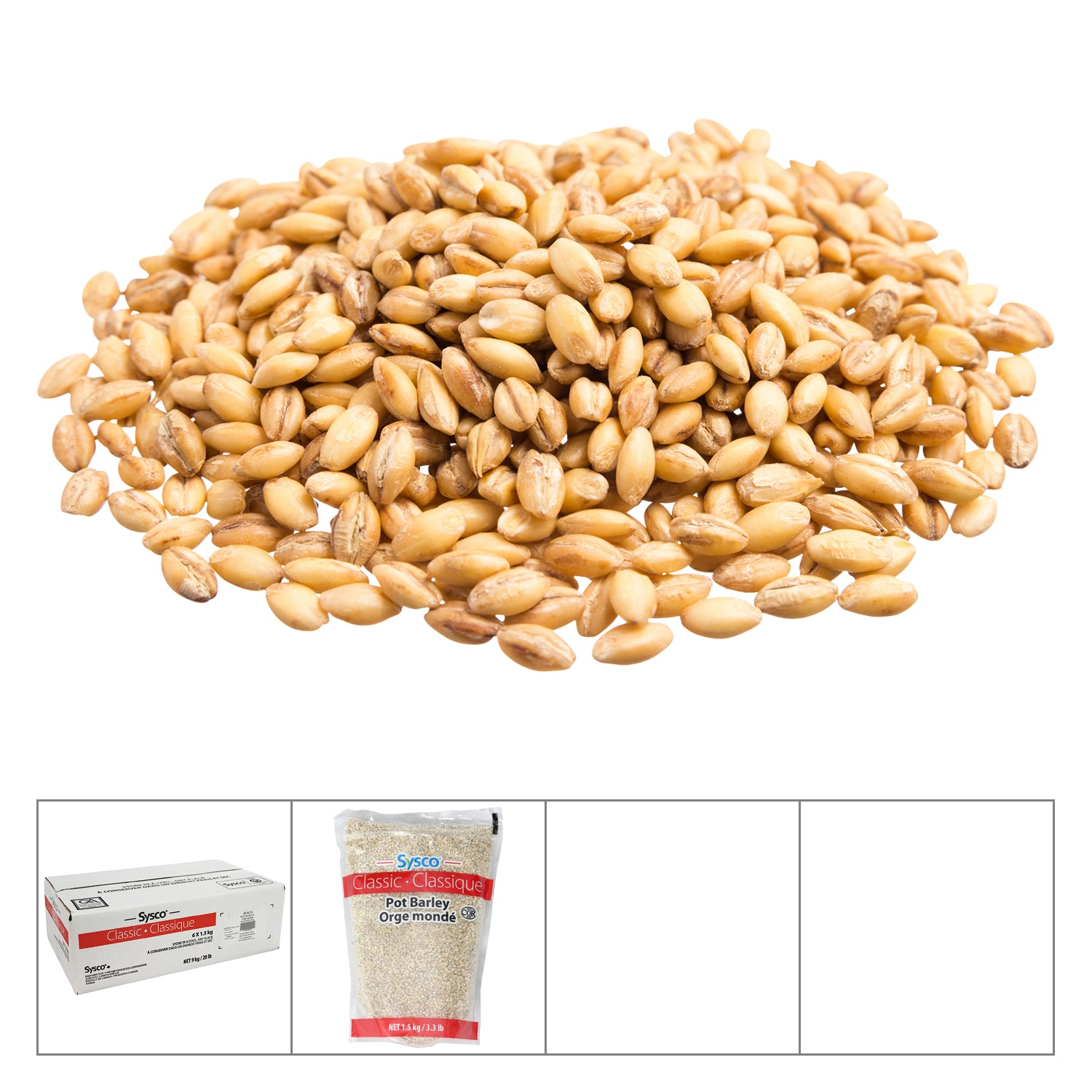 Sysco Classic Pot Barley 1.5 kg - 6 Pack [$2.22/kg]