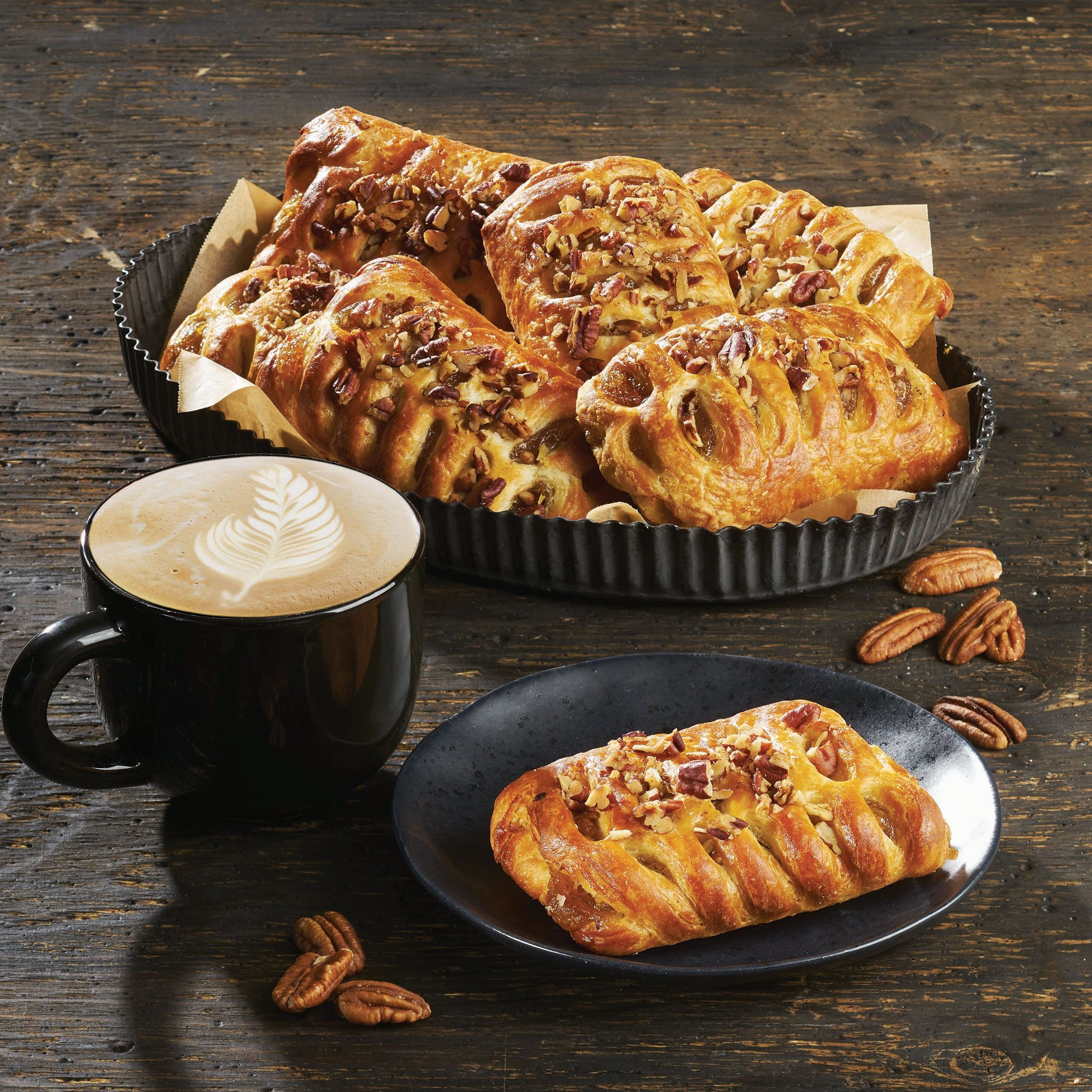 Bridor Frozen Maple Pecan Butter Danish 90 g Ready to Bake - 40 Pack [$1.49/each]