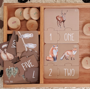 Modern Monty | Woodland Counting Puzzle