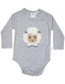 Korango | Baa Baa White Sheep Bodysuit - Grey