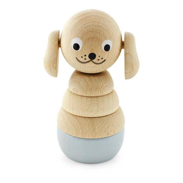 Wooden Dog Stacking Puzzle Bella - Small 10cms