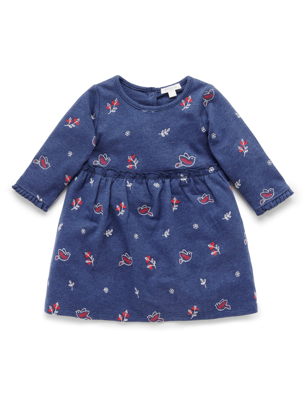 Pure Baby | Chalet Dress - Navy Print