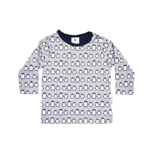 Korango | Baby Penguin Printed Top - Navy