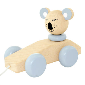 Wooden Pull Along Toy Koala - Neville