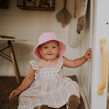 Load image into Gallery viewer, Bedhead Hats | Bucket Hat - Blush Ruffle Trim