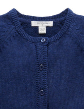 Load image into Gallery viewer, Pure Baby | Short Ruffle Cardigan - Navy Melange