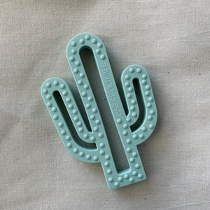 One Chew Three | Cactus Silicone Teether - Mint