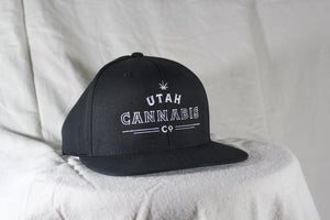 Utah Cannabis Co. Black Snapback Hat